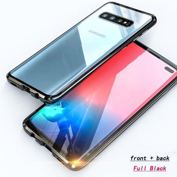 2019 Latest!!!Magnetic Adsorption Transparent Tempered Glass Two side Glass Cover Phone Case For Samsung S10/ S10Plus/ S10e