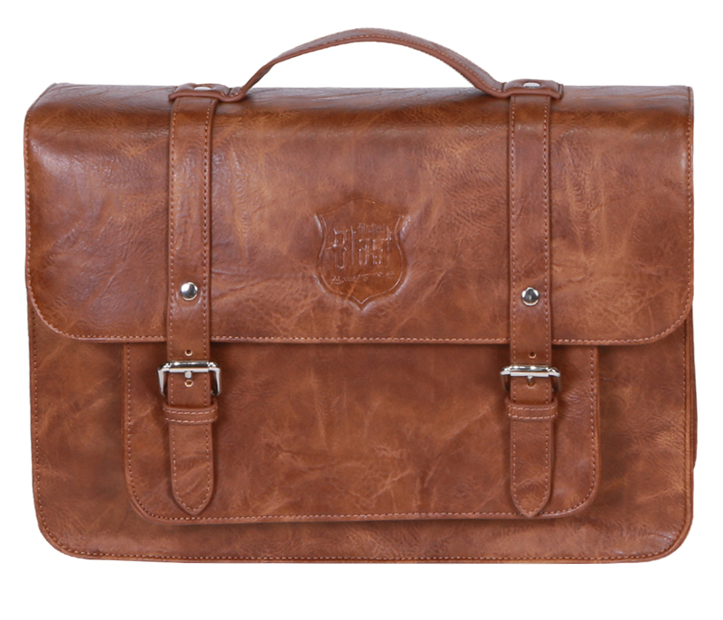 Back Rack Pannier Case - Brown Genuine Crumpled Leather