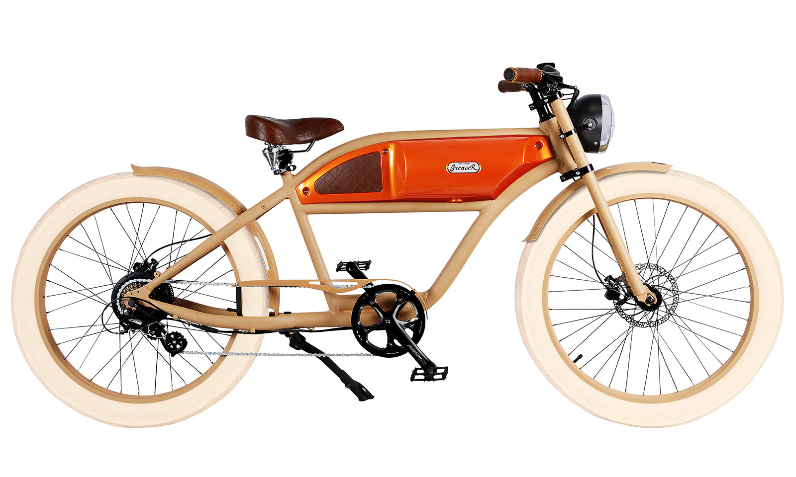 Sand Orange Tank Brown Accents Tan Tire