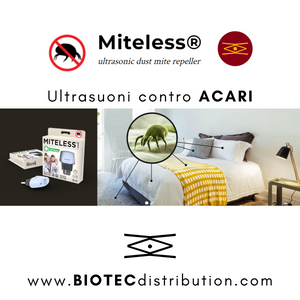 Miteless HOME - dispositivo a ultrasuoni contro ACARI