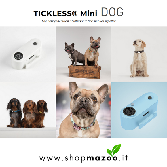 Tickless mini DOG - dispositivo a ultrasuoni contro le pulci e le zecche