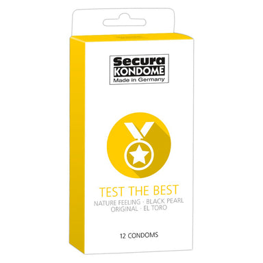 Secura Kondome Test The Best Mixed x12 Condoms - Coy Store Limited