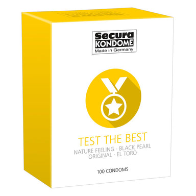 Secura Kondome Test The Best Mixed x100 Condoms - Coy Store Limited