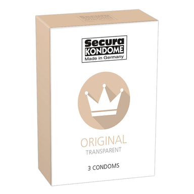 Secura Kondome Original Transparent x3 Condoms - Coy Store Limited