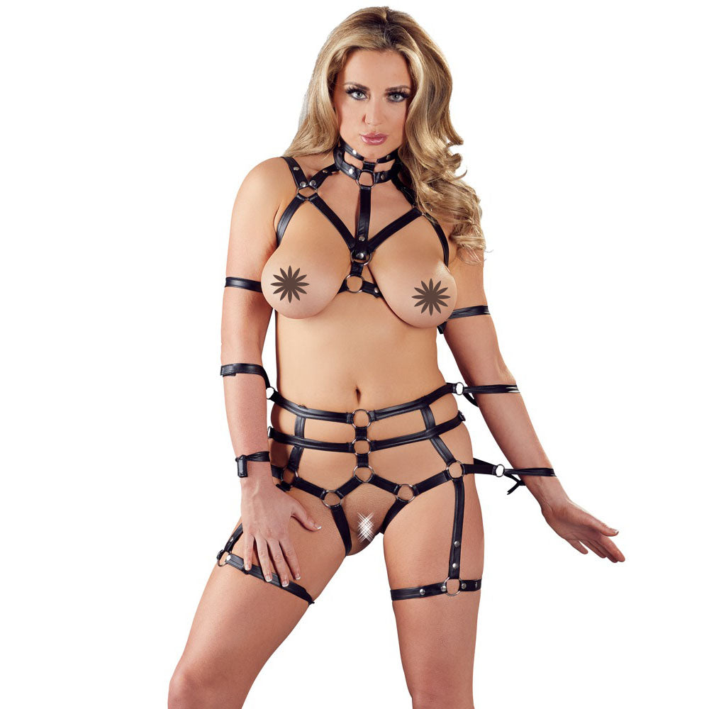 2 Piece Matt Look Bondage Set - The Coy Store