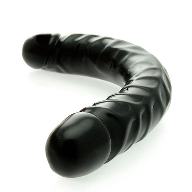 12 Inch Veined Double Header Dildo Black - Coy Store Limited