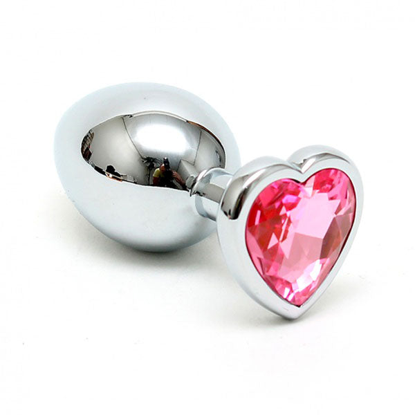 Small Butt Plug With Heart Shaped Crystal - The Coy Store