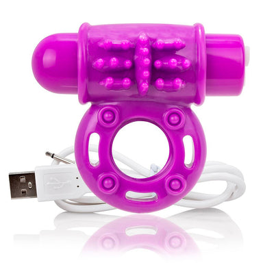 Screaming O Charged OWow Purple Vibrating Cock Ring - Coy Store Limited