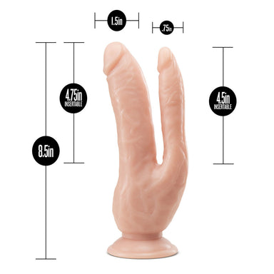 Dr. Skin Dual 8 Inch Dual Penetrating Dildo With Suction Cup - The Coy Store