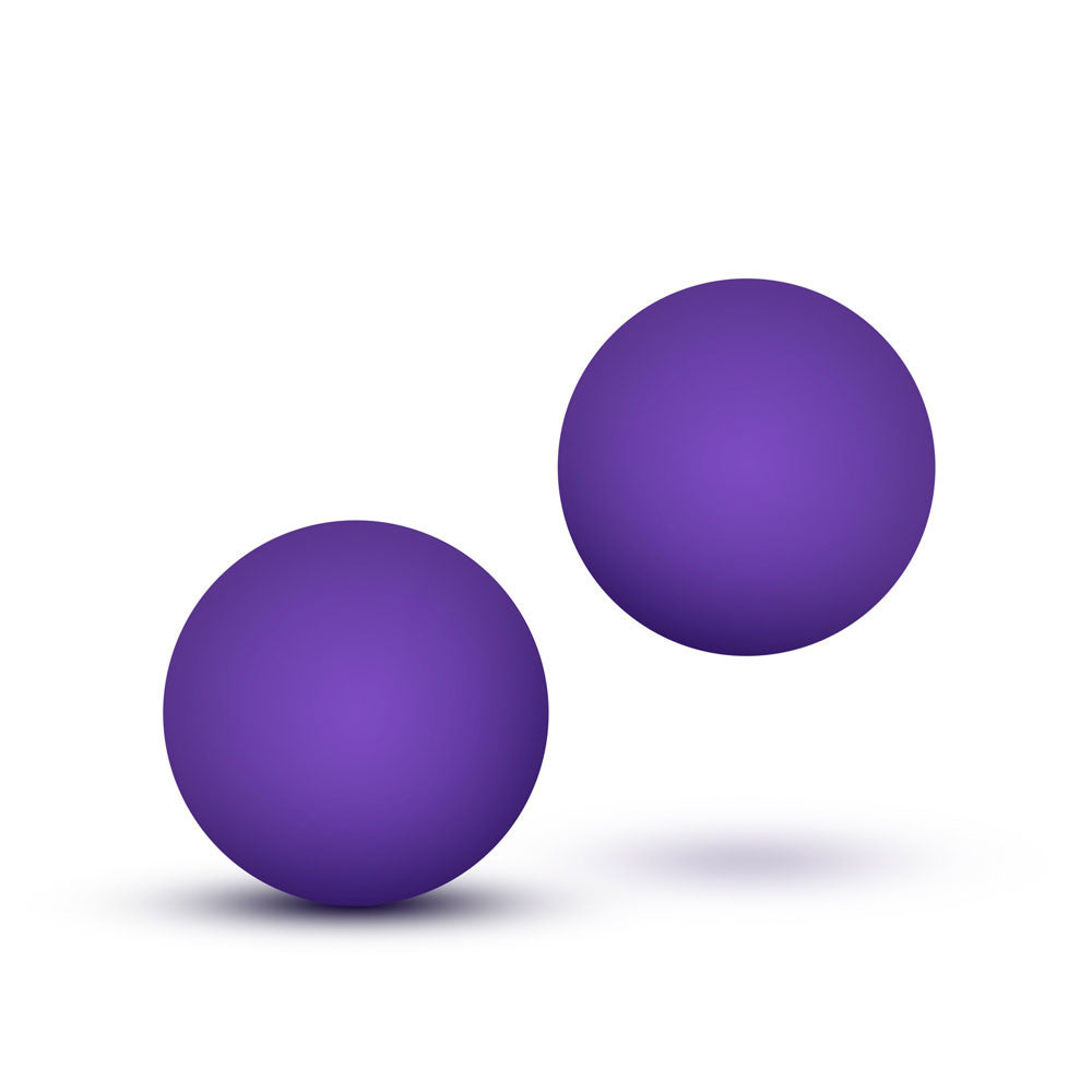 Luxe Purple Double O Kegel Balls Weighted 0.8 Ounce - The Coy Store