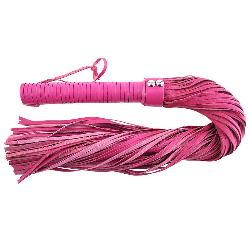 Rouge Garments Large Pink Leather Flogger - The Coy Store