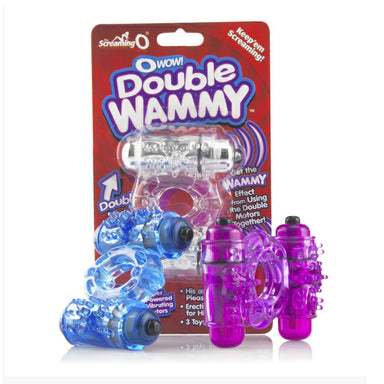 Screaming O O Wow Double Whammy Vibrating Cock Ring - Coy Store Limited