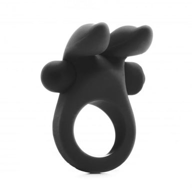 Shots Rabbit Vibrating Cock Ring Black - Coy Store Limited