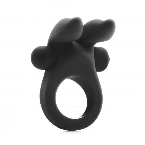 Shots Rabbit Vibrating Cock Ring Black