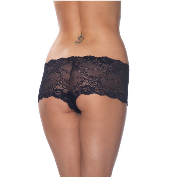 Black Lace Hotpants - The Coy Store