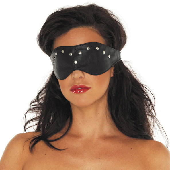 Leather Blindfold Mask - The Coy Store