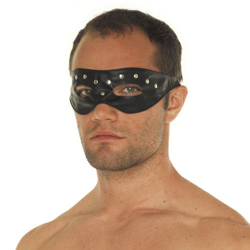 Leather Open Eye Mask With Rivets - The Coy Store