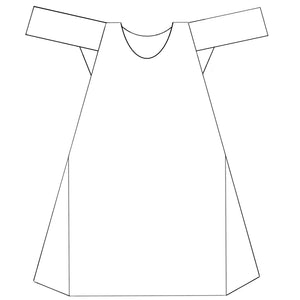 1780 Linen Shift with Narrow Sleeves