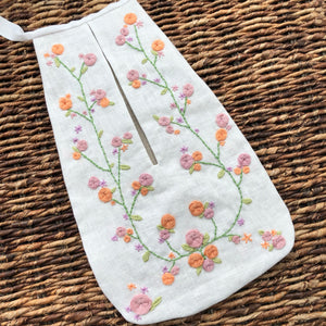Hand Embroidered 18th Century Girl's Pocket