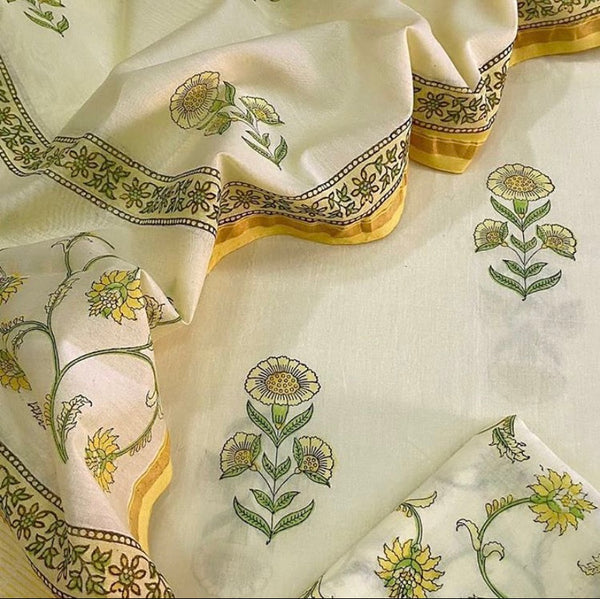 Cotton Sets with Chanderi Dupatta (3pc)