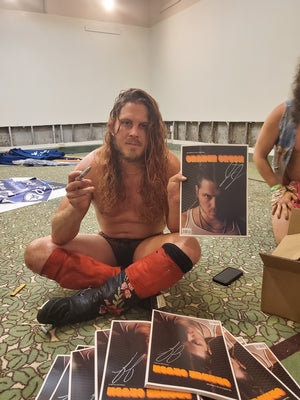AUTOGRAPHED BY JOEY JANELA! Orange Crush: The Journal of Art & Wrestling