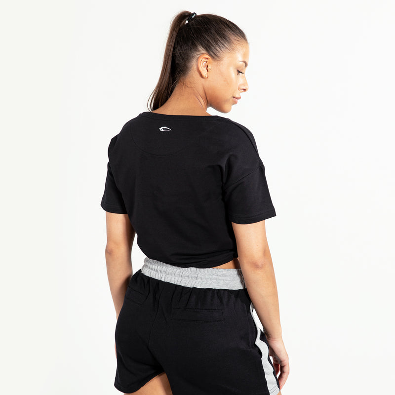 Damen Cropped T-Shirt Fancy