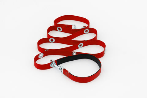 SnapLeash | Red | 7.5ft x 1in | LARGE Dogs > 50lbs