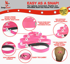 SnapLeash | Pink | 7.5ft x 5/8in | SMALL Dogs < 50lbs