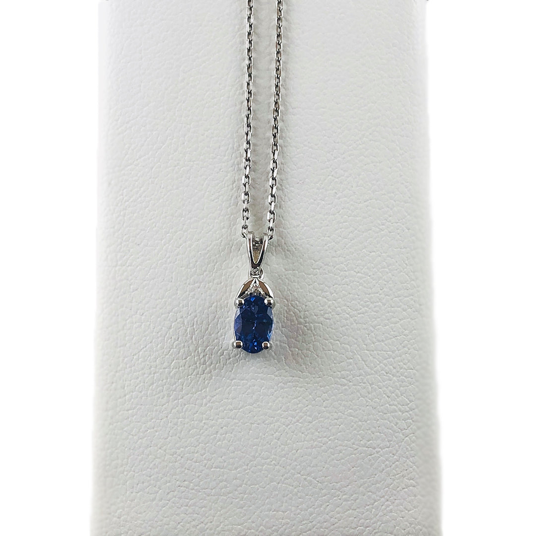 Beautiful Oval Tanzanite Stone in Silver Pendant