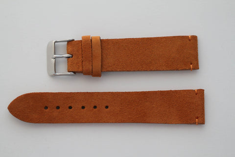 Orange Suede 20mm Strap