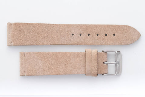 Light Tan Suede 20mm Strap