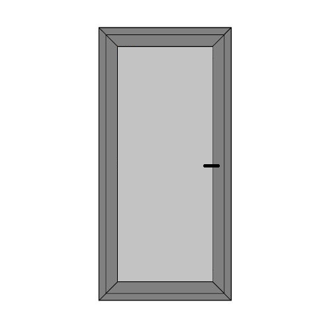 Single Door - Full Panel - Boat Doors - Style 1P