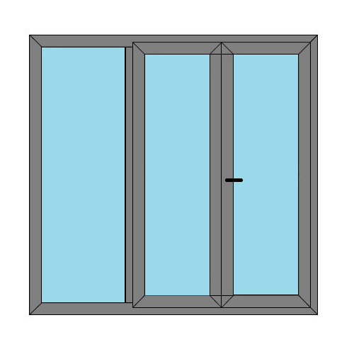 Double Doors - 1 Side Panel - Boat Doors - Style 5