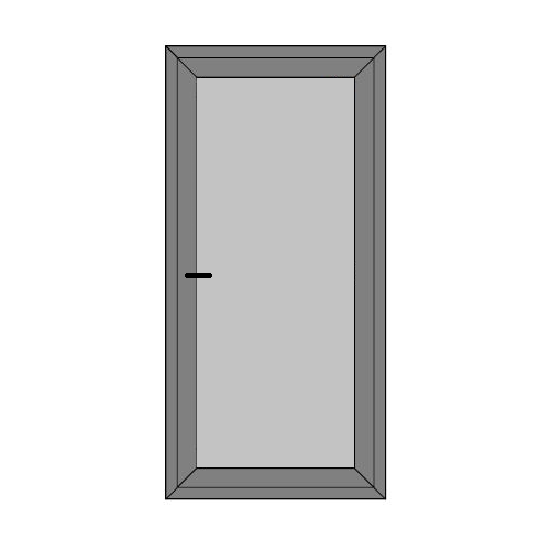 Single Door - Full Panel - Caravan Doors - Style 1P