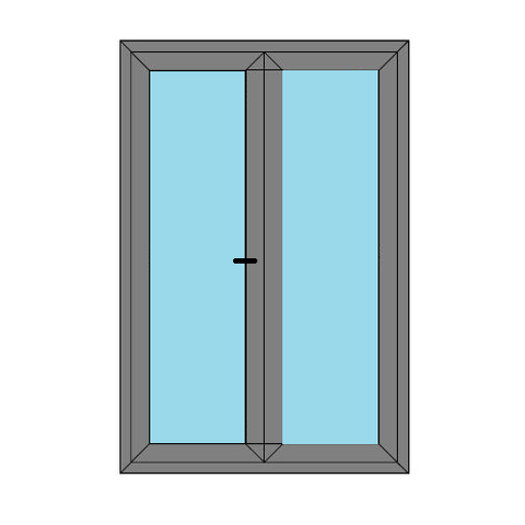 Double Doors - Full Glass - External Caravan Doors - Style 4