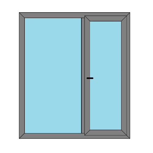 Single Door - 1 Side Panel - Boat Doors - Style 2
