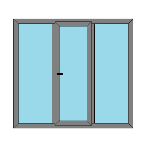Single Door - 2 Side Panels - Boat Doors - Style 3