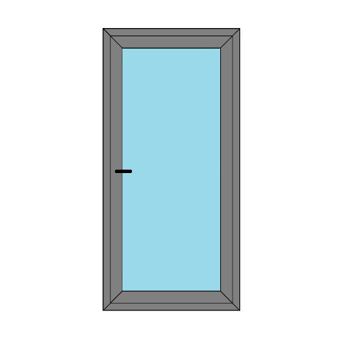 Single Door - Full Glass - Boat Doors - Style 1