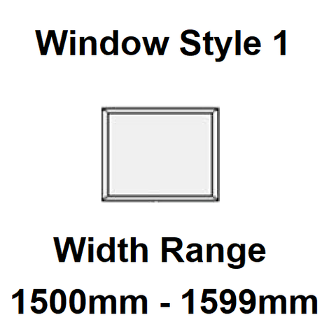 Style 1 - Width Range: 1500-1599 mm - Double Glazing for Boats