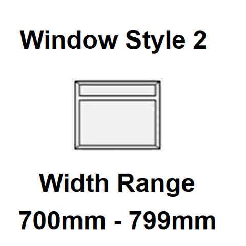 Style 2 - Width Range: 700-799 mm - Coloured Narrowboat Windows