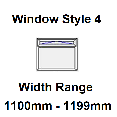 Style 4 - Width Range: 1100-1199 mm - Narrowboat Windows for Sale
