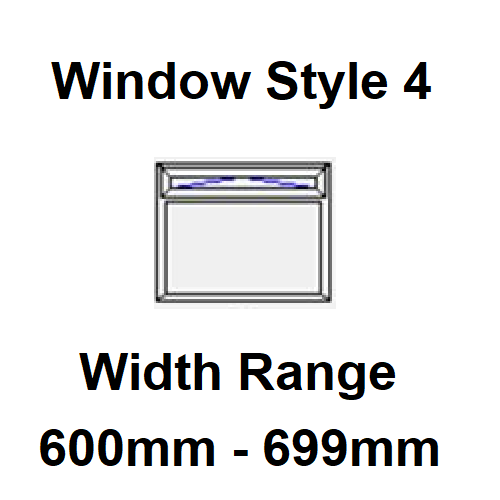 Style 4 - Width Range: 600-699 mm - Double Glazing for Boats