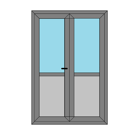 Double Doors - Midrail and Panel - Replacement Static Caravan Doors - Style 4MP