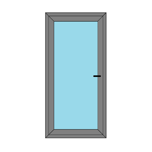 Single Door - Full Glass - Static Caravan Doors - Style 1
