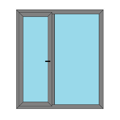 Single Door - 1 Side Panel - Static Caravan Doors - Style 2