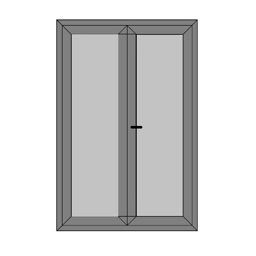 Double Doors - Full Panel - Static Caravan External Doors - Style 4P