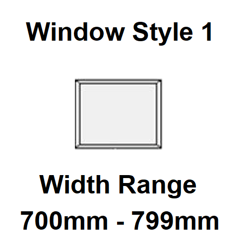 Style 1 - Width Range: 700-799 mm - Static Caravan Double Glazing Suppliers for DIY