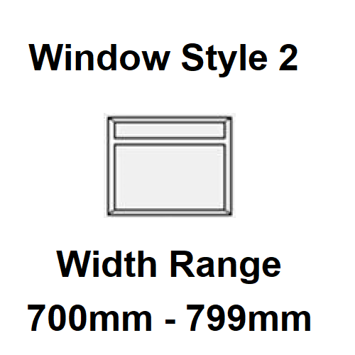 Style 2 - Width Range: 700-799 mm - Static Caravan Double Glazing Suppliers for DIY