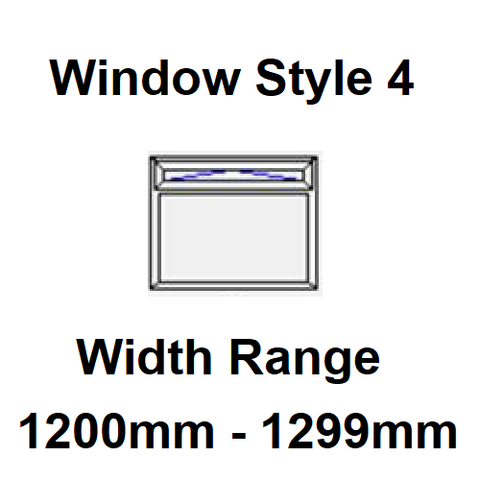 Style 4 - Width Range: 1200-1299 mm - Static Caravan Windows Supply Only