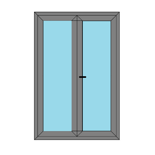 Double Doors - Full Glass - Boat Doors - Style 4